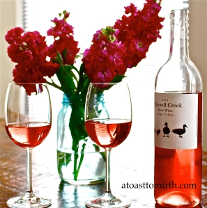 There is nothing better in the spring and summer than a crisp rosé before dinner, and the Maxwell Creek 2013 Rosé delivers with crisp notes of citrus and strawberries with hints of floral aromas. We love it and we LOVE the price too!