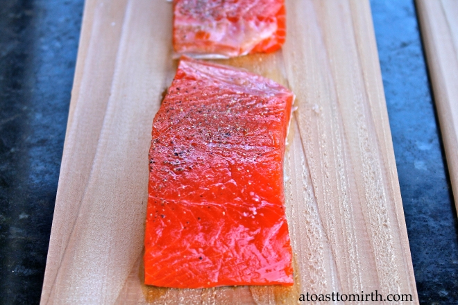 This salmon was just beautiful