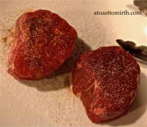 Steak and red wine mushroom reduction ingredients