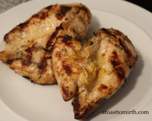 This grilled garlic lemon chicken really takes this dish to another level.