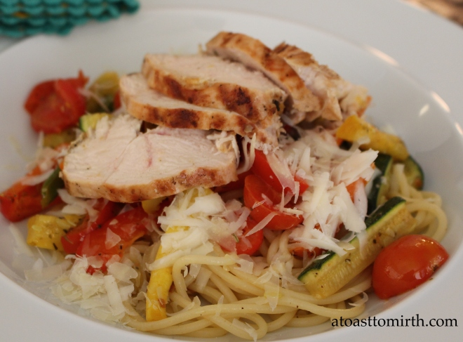 Pasta in the summer doesn't have to be a heavy dish. It can be light, and filling at the same time!