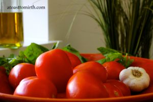 Fresh tomatoes, garlic, basil and olive oil. How can you go wrong?