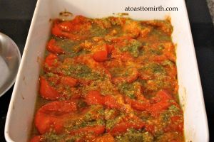 Tomatoes after 2 hour bake
